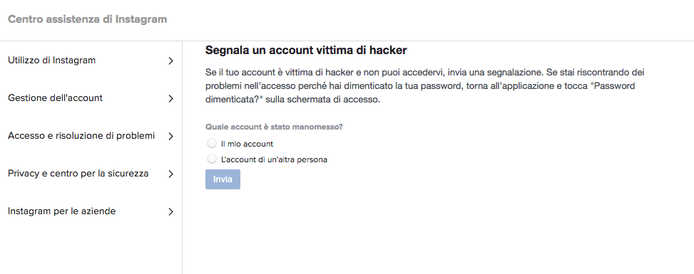Come recuperare un account Instagram hackerato